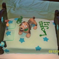 Toy Story Cake I made this for my friends son, he wanted a Slinky Dog cake...
