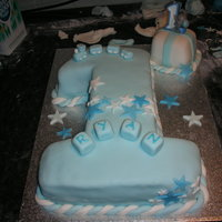 Number 1 Decorated number 1 cake I made for my sons 1st birthday