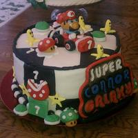 Mario Customer ordered a Mario cake for a 7 year old.