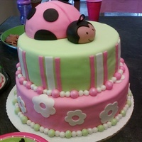 1St Birthday My daughters 1st birthday. 2nd cake I had ever done. MMF with buttercream...all I know how to do really!