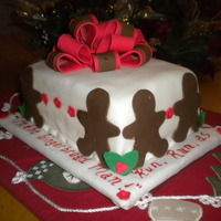 Gingerbread Man Cake Cake I did for my last cake class I saw this on Kara's Party Ideas she has the best ideas...