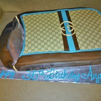 Adult Birthday Cake 2-d purse cake. Edible image, butter cream with fondant accents