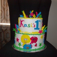 "Sesame Street Babies 8"" 10"" with fondant accents"