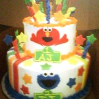 Elmo And Cookie Inspired by cake central for this design. Original had Elmo only..