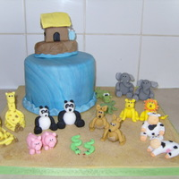 "Animals!!! The cake requested was a noah's ark, although stated that it was to be ""all about the animals""!!! this is what I came up..."