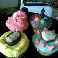 My First Easter Cupcakes yep i know i made mouse cupcakes instead of rabbits but it was a conversation starter over easter weekend