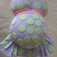Prego Belly Cake this was my ver 1st prego belly and the 2nd time ever using MMF...