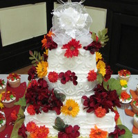 Fall Buttercream Wedding Cake