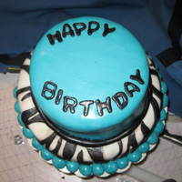 Tiffany Blue Cake With Zebra Stripes tiffany blue cake with zebra stripes