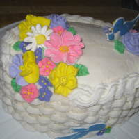 Final Cake For Final Cake Class RI flowers and basketweave technique