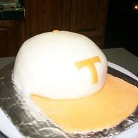 "University Of Tennessee Baseball Cap University of TN Baseball Cap. Recently started cake classes and the facility I work for asked if I could make a Hat cake for ""Hat Day..."