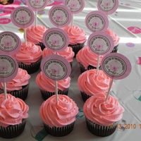 Chocolate Raspberry Cupcakes Cupcakes made for my niece's birthday. Chocolate cupcakes, filled with raspberry filling and vanilla buttercream frosting dyed pink.