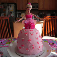 Barbie Cake My first Barbie cake for my nieces birthday.