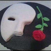 Phantom Of The Opera   Mask covered in fondant, fondant rose.