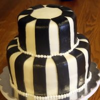 Striped Cake This was a last minute cake for a surprise party cake. The customer put a tiara on top.