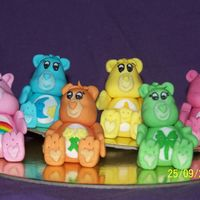 Care Bears heres my are bears they were for a cake but i changed my mind hehehe all hand made out of RTR icing thanks for looking and comments...
