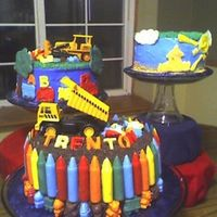 Boys Toys Birthday/shower Cake