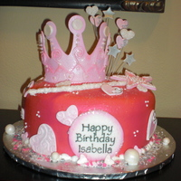 Princess Cake Buttercream Frosting with Fondant accents.