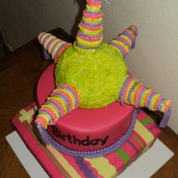 Pinata Cake   Pinata is RKT cake and cupcake vanilla with chocolate fondant 100% edible