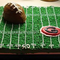 High School Football Godwin High School Football cake made for the birthday of a coach. Go Eagles! Grass done w/ basketweave tip.