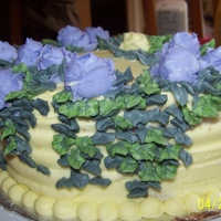 Leasves And Flowers Butter cream Cake wit h decoration