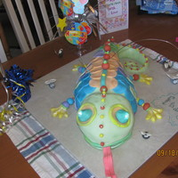 Daugher's Chameleon Cake