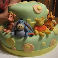 Winnie The Pooh Baby Shower Cake Winnie the Pooh cake for a friend's baby shower