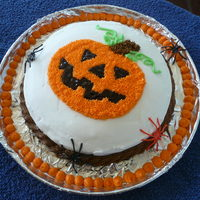 Happy Halloween! This is my first attempt at cake decorating during my second day of Wilton decorating class.