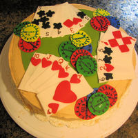 Poker Themed Birthday Cake This is a poker themed birthday cake. All cards & chips are hand made