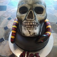 Skull Birthday Cake With Snake