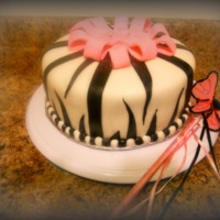 Vanilla Flavor Zebra Print Cake Made With All Fondant. my first Zebra print cake made with all fondant.