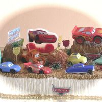 Cars Cake I make this cake for my nephew's second birthday!