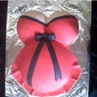 Sexy Pregnant Belly   red and black pregnant cake