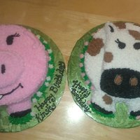 Farm Animals This was for a friends daughters first birthday...after making these I'm thinking of doing this for my daughters next birthday but...