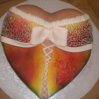 Bridal Shower This was my first lingerie cake I used my spray gun to give it a tie dye look and used butter cream to give it the lace look...my boys...