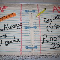 Classroom Cake   This is a cake I did for my husband's 5th grade class for their good behavior. It is a 12x19 sheet cake.