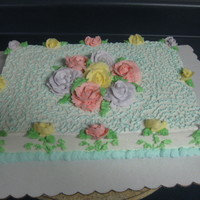 Roses On Side buttercream