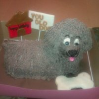 You Old Dog Birthday Cake choc mud cake with cookies and cream buttercream frosting, i had one of those days today, when i moved him from the paper to the board, the...