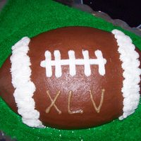 Superbowl Xlv Cake I did this for a friend who's birthday is the same day as Superbowl. Dark Chocolate pound cake with Dark Chocolate BC.