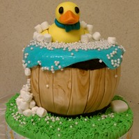 Rubber Ducky Cake   This is my first baby shower cake.