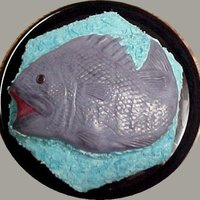 Grandson's Fish Birthday Cake   Just learning as I go