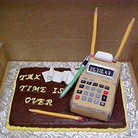 Tax Time Is Over This was my second cake that I made for our accountant on Tax Day