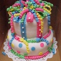Grand Daughter's Birthday Cake   My first try at making cakes using fondant