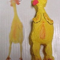 Challenge From A Friend To Make A Nekkid Chicken Cake.  Picture of nekkid chicken on the left and cake on the right. Just a personal joke between a group of friends. Challenge to make it in an...