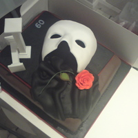 Phantom Of The Opera Copied from one I saw on the net. This is my first cake too!!