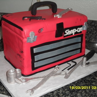 Tool Box tool box made for 50th birthday! tools made of gum paste