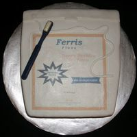 Package Of Dental Floss Package of dental floss made for one of dh's professors. Choc choc chip cake, fondant covering/accents, chocolate toothbrush, edible...