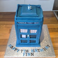 The Tardis Tardis cake from Dr Who.