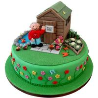 Shed Cake Cake I did for my father in law who loves to be in his shed :-)