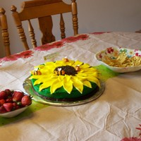 Sunflower Birthday Cake For My Daughters 13Th sorry not a great photo.